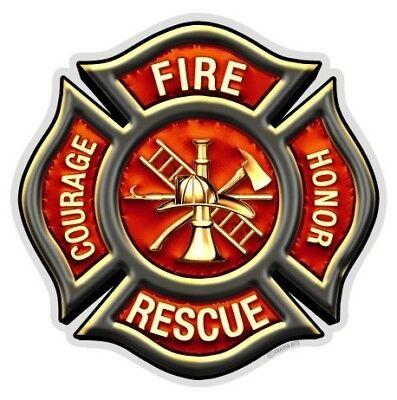 Firefighter Feuerwehr Abzeichen Honor Courage Rescue USA Aufkleber Decal Sticker ()