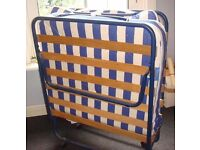 'Put you up' folding bed. Metal frame, mattress - good condition. useful, folds away easily.