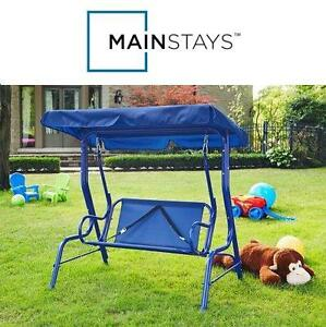 NEW MAINSTAYS JUNIOR PATIO SWING - 110948335 - BLUE