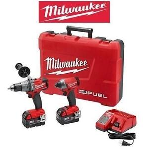 NEW MILWAUKEE 18V DRILL/DRIVER KIT 2897-22 193706985 HAMMER DRILL IMPACT DRIVER COMBO POWER TOOL CORDLESS