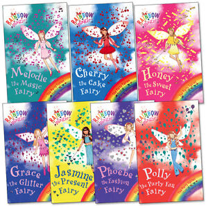 Rainbow Magic Party Fairies Collection Daisy Meadows 7 Books Set Series 15 to 21