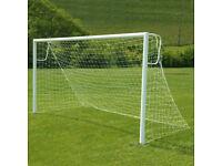 JUNIOR STEEL FOOTBALL GOALS FOR SALE - ( 12FT X 6FT )