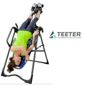 NEW* TEETER EP-970 INVERSION TABLE E61007L 250530935 BACK PAIN RELIEF STRETCHING BLUE TITANIUM