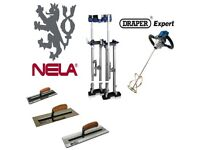 "NELA 14"" TROWEL DEAL NELAFLEX GOLD MKII PLASTICFLEX PREMIUM LARGE STILTS MIXING DRILL"