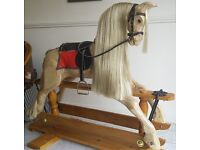 Rocking horse/Handmade in Wood suitable for 3 to 12 yearolds