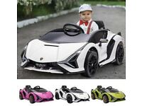Lamborghini SIAN 12V Kids Electric Ride On Car Toy with Remote Control