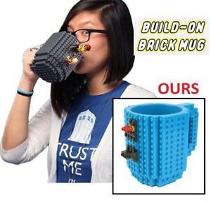 NEW BUILD ON BRICK COFFEE MUG 120Z 112723029 LEGO Build-On Brick Mug - BPA-free 12oz Coffee Mug