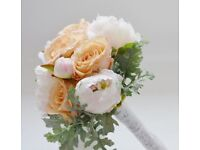 peach and cream posies and bouquets. variety of styles and prices.