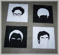 Big Bang Theory wall hangings x4