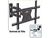 """NEW BOXED, TILT and SWIVEL fits 32"""" to 55"""" Plasma LCD 3D TV Wall mount 3DTV plasma TV WALL BRACKET"""