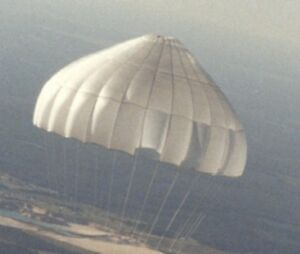 Surplus white military Parachute