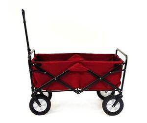 Mac Sports Red Portable Folding Utility Wagon Garden Cart