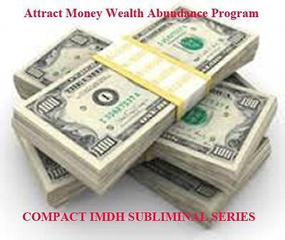 Attract Money Manifest Wealth Abundance Ultrasonic Subliminal Hypnosis Audio CD