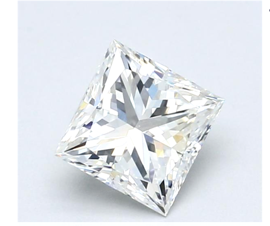 Real 1CT Natural Loose Diamond Princess Cut Brilliant F Color VS1 GIA Certified