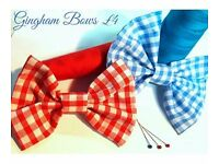 Gingham School Bows