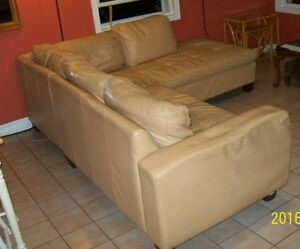 Leather Sofa Couch Very Comfy Moving sale.