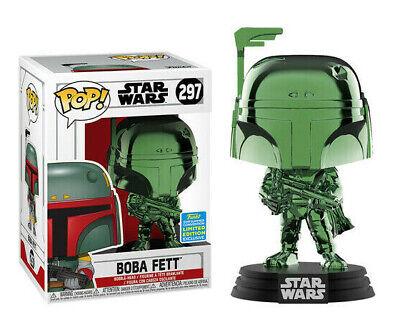 Funko Pop! Star Wars #297 Green Chrome Boba Fett 2019 Summer Exclusive NIB HTF