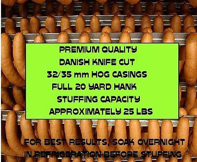 Natural Danish Hog Casings for Sausage (Knife Cut) Worlds Best)