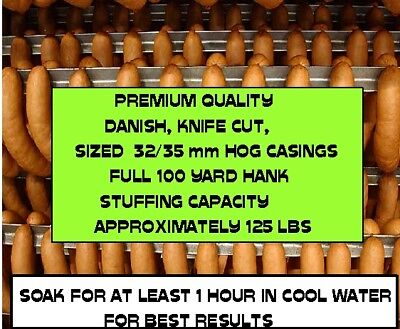 Natural Hog Casings for Sausage (Knife Cut) Worlds Best,32/35, full 300