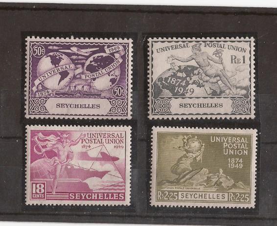 Seychelles 1949 Upu Scott 153-6 Mint Hinged I924 - $3.50