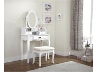 White dressing table set complete Brand new in box