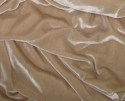 Ткань Silk VELVET Fabric SAND BEIGE
