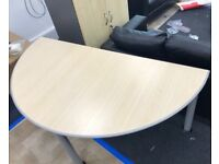 Quality Strong Sturdy Curved Office Tables/ Desks x2 Good Condition Can Deliver