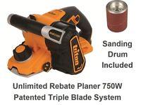 TRITON 750W Unlimited Rebate Planer (3 blades) + 2 Sanding drums