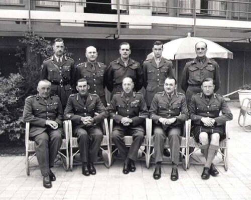 1945 World War 2 First Canadian Army Generals  Photo Taken in the Netherlands