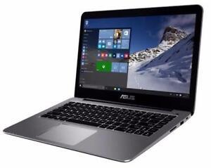 ASUS vivobook E403sa 14-inch HD, Quad core Intel 1.6 ghz 4GB , 128 GB SSD, 14 hours battery life, Mc Office Pro OPEN BOX
