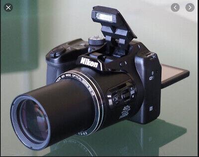 NEW Open Box Nikon Coolpix B500 ew 32GB card, camera bag, batt charger, & more!
