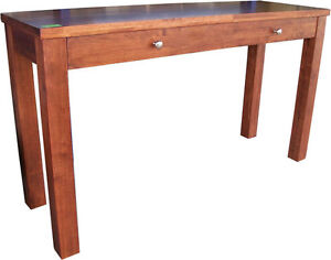 New HALL DISPLAY TABLE Solid Timber Rectangle Sofa Wooden Console SWAN OAK