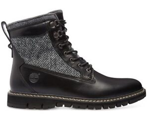 Black Timberland MEN'S BRITTON HILL 6-INCH LINED LEATHER BOOTS