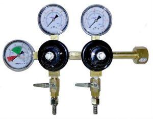 Keg regulator dual line for home brewing