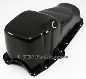 58-79 SBC Chevy Black Oil Pan - Stock Capacity 283 305 327 350 400 Small Block