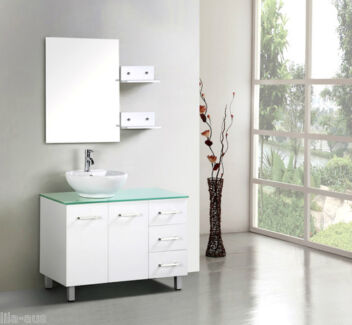 Simple Ikea QuotFullenquot Tall White Bathroom Cabinet With Cupboard Amp Glass