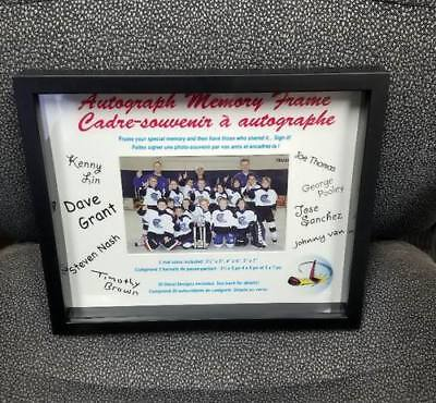 - Autograph Memory Shadow Box Photo Frame - with 3 different Mat Sizes