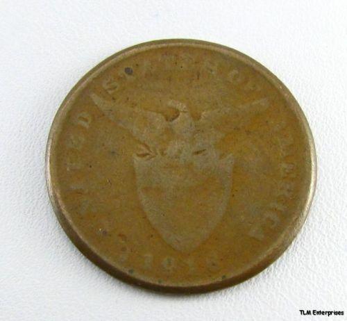 PHILIPPINES United States Annexation 1916 Centavo COIN