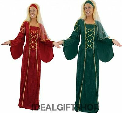 DAMEN TUDOR KÖNIGIN KLEID FANCY-DRESS KOSTÜM MITTELALTERLICHE - Renaissance Fancy Dress Kostüm