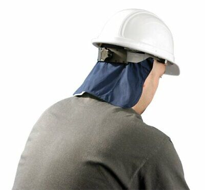 Occunomix Mircool Hard Hat Cooling Pad With Neck Shade In Navy Blue