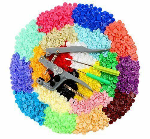 Snaps Zange mit 400 Set T5 Druckknöpfe in 20 Farben Nähfrei Druckknopf