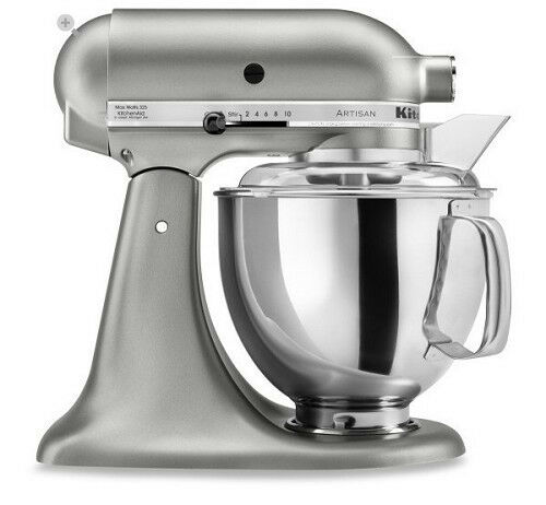 KitchenAid Stand Mixer tilt 5-QT RRK150 Artisan Tilt Choose The Beautiful Colors Coco Silver CS