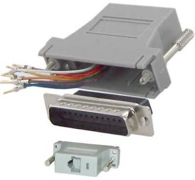 Lot100 DB25pin Male~RJ45 Jack Modular Adapter 8P8C for Network/Ethernet Cat5e/6 Db25 Network Adapter