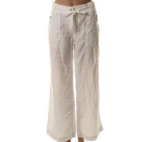 Guess White Linen Pants Ebay