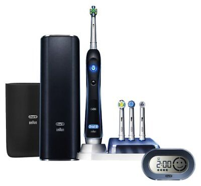 New Brown D345456X Oral-B electric toothbrush Platinum Black 7000 6 mode type