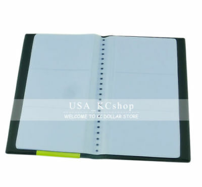 New 120 Sheets Business Name Id Credit Cards Holder Book Case Organizer Wallet