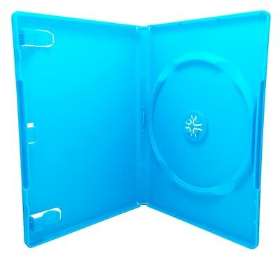 New Lot Of 5 Baby Blue Dvd Disc Replacement Cases Standard 14mm Case Free Sh