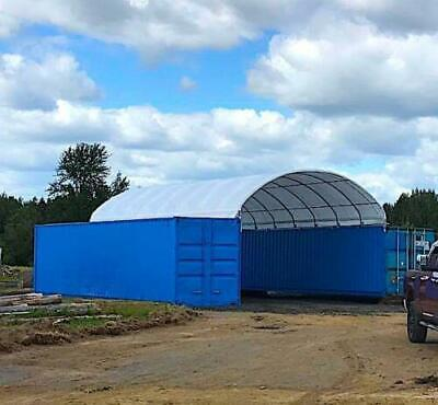 20x40x6.6 New Shipping Cargo Container Conex Fabric Building Canvas Shelter