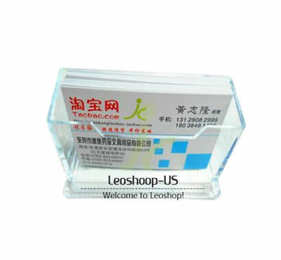 New 2pcs Clear Acrylic Desktop Business Id Credit Card Holder Display Organizer