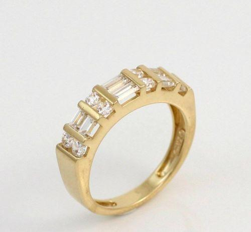 14k yellow gold diamonique ring ebay